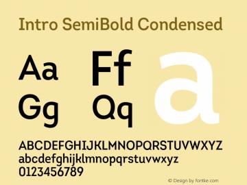 Intro-SemiBoldCondensed Version 1.000图片样张