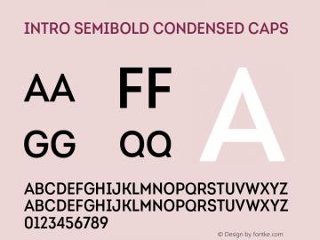 Intro-SemiBoldCondensedCaps Version 1.000图片样张