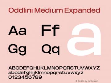 Oddlini-MediumExpanded Version 1.002图片样张