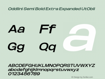 Oddlini-SemBdExtExpUtObli Version 1.002图片样张