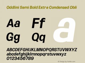 Oddlini SemBd ExtraCond Obli Version 1.002图片样张