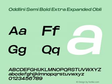 Oddlini SemBd ExtExp Obli Version 1.002图片样张