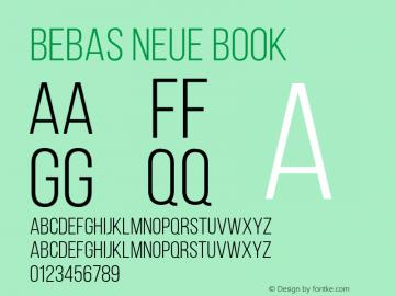 BebasNeueBook Version 001.003图片样张