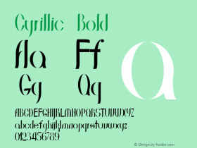 Cyrillic Bold Version 1.000图片样张