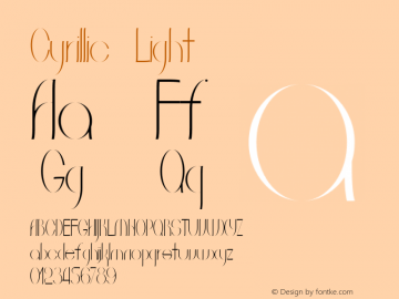 Cyrillic Light Version 1.000图片样张