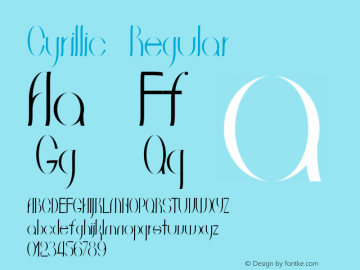 Cyrillic Regular Version 1.000图片样张