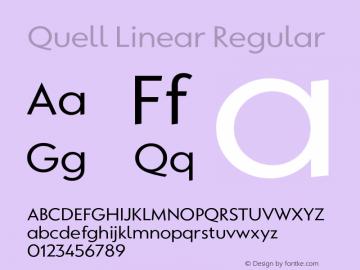 QuellLinear-Regular Version 1.0   wf-rip DC20180710图片样张