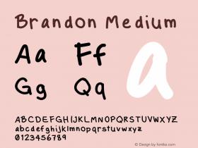 Brandon Medium Version 001.000 Font Sample