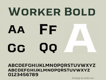 Worker-Bold Version 1.00图片样张