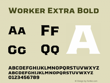 Worker-ExtraBold Version 1.00图片样张