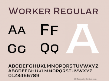 Worker-Regular Version 1.00图片样张
