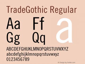 TradeGothic Regular 001.000图片样张