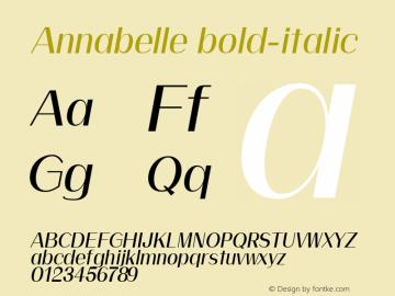 Annabelle bold-italic 0.1.0图片样张