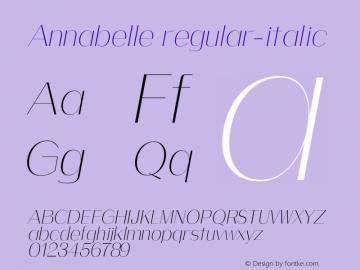Annabelle regular-italic 0.1.0图片样张