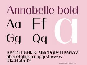 Annabelle bold 0.1.0图片样张