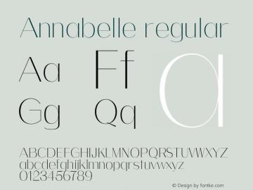 Annabelle regular 0.1.0图片样张