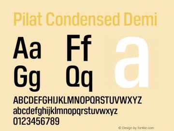 Pilat Condensed Font,PilatCondensed-DemiBold Font,Pilat
