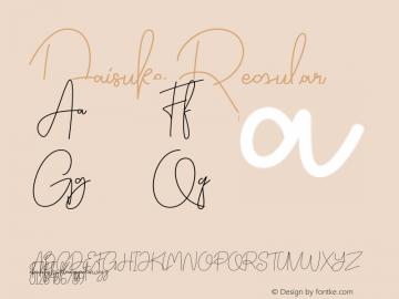 Daisuke Version 1.002;Fontself Maker 3.1.1图片样张