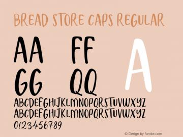 Bread Store Caps Version 1.003;Fontself Maker 3.2.2图片样张
