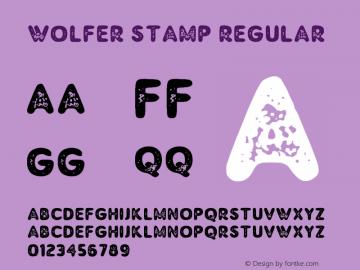 Wolfer Stamp Version 1.00;July 31, 2019;FontCreator 11.5.0.2430 64-bit图片样张