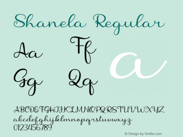 Shanela Version 1.002;Fontself Maker 3.3.0图片样张