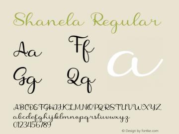 Shanela Version 1.002;Fontself Maker 3.3.0图片样张