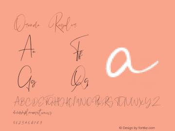 OrendaRegular Version 1.002;Fontself Maker 3.2.2;YWFTv17图片样张