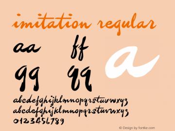 imitation Macromedia Fontographer 4.1.3 4/20/03图片样张