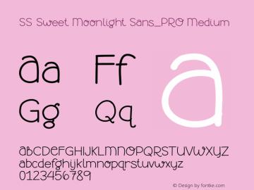 SS Sweet Moonlight Sans_PRO Version 001.000图片样张