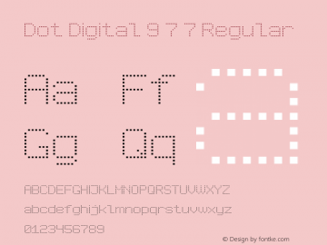 Dot Digital 9 7 7 Version 1.000图片样张
