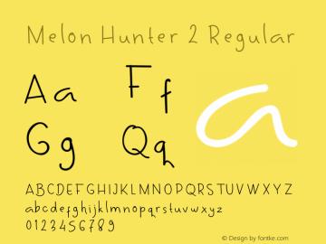 Melon Hunter 2 Version 1.015;Fontself Maker 3.3.0图片样张