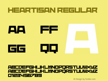 Heartisan Version 1.00;August 9, 2019;FontCreator 11.5.0.2430 64-bit图片样张