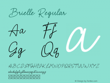 Brielle Version 1.005;Fontself Maker 3.3.0图片样张