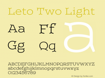 LetoTwo-Light Version 1.000 2013 initial release图片样张