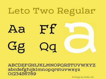 LetoTwo-Regular Version 1.000 2013 initial release图片样张