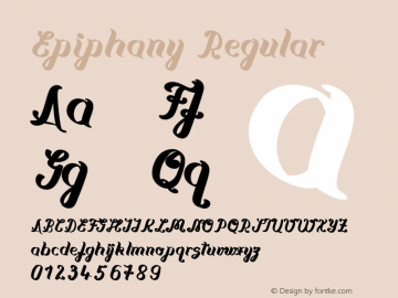 Epiphany Version 1.003;Fontself Maker 2.3.5图片样张