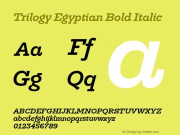 TrilogyEgyptian-BoldItalic Version 1.001图片样张