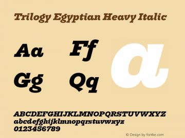 TrilogyEgyptian-HeavyItalic Version 1.001图片样张