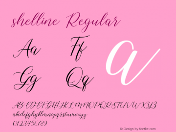 shelline Version 1.00;August 9, 2019;FontCreator 11.5.0.2430 64-bit图片样张