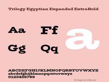 TrilogyEgyptianExpanded-XBold Version 1.001图片样张