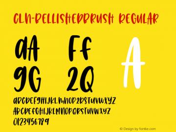 CLN-BellishedBrush Version 1.002;Fontself Maker 3.2.2图片样张