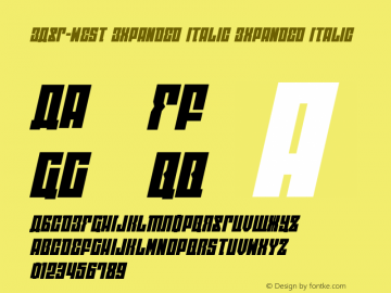 EAST-west Expanded Italic Version 1.2; 2014图片样张