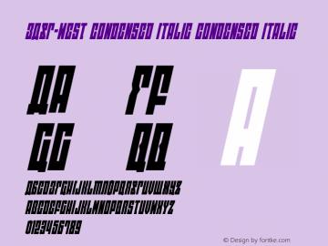 EAST-west Condensed Italic Version 1.2; 2014图片样张