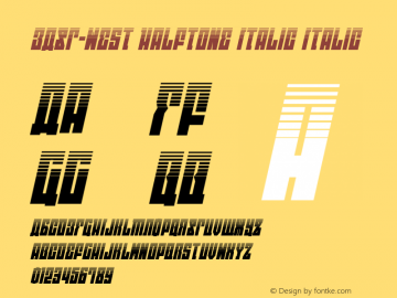 EAST-west Halftone Italic Version 1.2; 2014图片样张