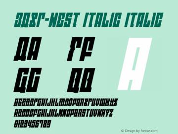 EAST-west Italic Version 1.2; 2014图片样张