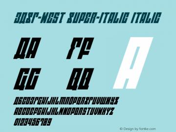 EAST-west Super-Italic Version 1.2; 2014图片样张