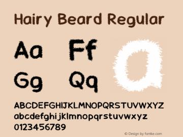 Hairy Beard Version 1.00;August 13, 2019;FontCreator 11.5.0.2422 64-bit图片样张