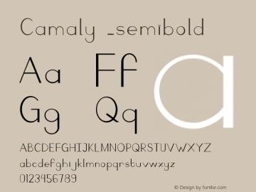 Camaly Semibold Version 001.000图片样张