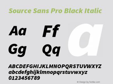 Source Sans Pro Black Italic Version 1.050;PS 1.000;hotconv 1.0.70;makeotf.lib2.5.5900图片样张