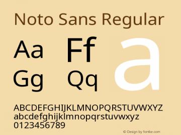 Noto Sans Regular Version 2.000;GOOG;noto-source:20170915:90ef993387c0图片样张